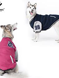 Dog Coat / Shirt / T-Shirt / Sweatshirt Red / Blue Dog Clothes Spring/Fall Cosplay