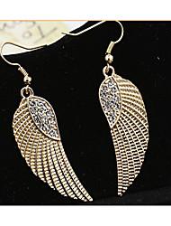 MPL European and American fashion angel wings Diamond Earrings
