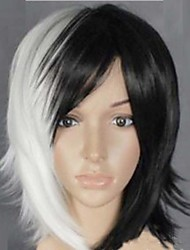 popular na Europa eo cabelo preto e branco cos anime perucas