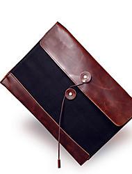 Men PU / Canvas Fold over Clutch Clutch - Brown / Khaki