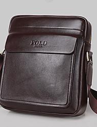 Men Cowhide Messenger Shoulder Bag - Brown / Black