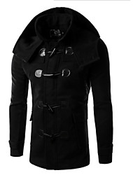 YES.FLY Men's Hoodie Coats & Jackets , Cotton Blend Long Sleeve Casual Pocket Fall