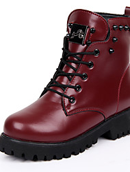 Women's Shoes Leather Flat Heel Snow Boots / Roller Skate Shoes / Fashion Boots / Motorcycle Boots / Bootie /