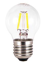 2W E26/E27 Ampoules Globe LED G60 4 COB 300-350 lm Blanc Chaud AC 100-240 V 5 pièces