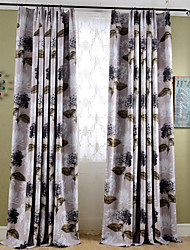 Country Curtains® Blackout Printing Flower Two Color Window Curtains Drapes Two Panel