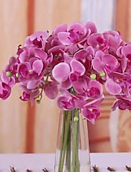 Poliéster Orquideas Flores artificiais