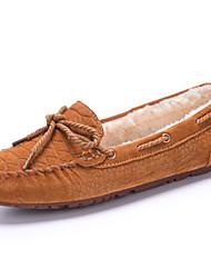 Zapatos de mujer - Tacón Plano - Botas de Nieve / Náuticos - Zapatos Náuticos - Oficina y Trabajo / Casual / Fiesta y Noche - Ante -