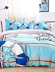 Mingjie® Bedding Sets 4pcs Queen Size adn King Size Boys and Girls Korean Love of the Sea Blue China Wholesale