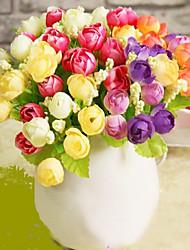 Plastique Roses Fleurs artificielles
