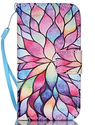 Flower Pattern PU Leather Material Flip Card Phone Case for iPhone 4/4S