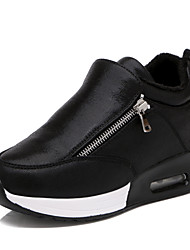 Women's Shoes Leatherette Fall / Winter Platform / Creepers / Comfort Outdoor / Casual / Athletic Platform Chain Black / Gray