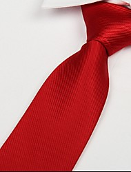 Adult Red Twill Tie Arrow Jacquard Polyester Silk Necktie