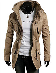Men's Stand Coats & Jackets , Acrylic / Cotton / Organic Cotton / Polyester Long Sleeve Casual / Work Fall Adonis