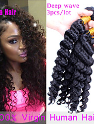 "10""-26""Grade 7A Brazilian Virgin Hair 3Pcs Brazilian Curly Hair Bundles Malaysian Deep Wave Human Hair Weave"