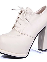 Women's Shoes Upeer Comfort Round Top Fashion Leather Short Boots White/black/Brown