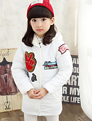 Girl's Black / Pink / Red / White Down & Cotton Padded , Cartoon Rayon Winter