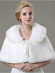 Wedding  Wraps / Fur Wraps Capelets Sleeveless Faux Fur Ivory Wedding / Party/Evening / Casual Bow Lace-up