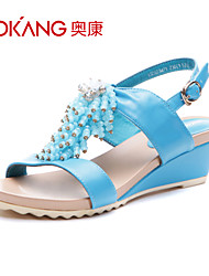 sandálias de couro sintético das mulheres aokang® - 132823471