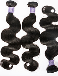 2015 Top Selling 7A Peruvian Virgin Hair Body Wave No Chemical Processed 3bundles Natural Black Color 100gram/pc