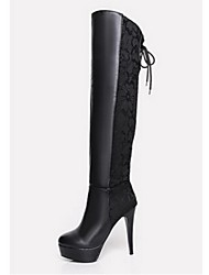 Women's Shoes Stiletto Heel Riding Boots Boots Casual Black