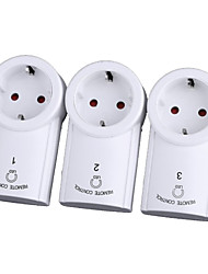 3-Pack Wireless Remote Control Power Outlet Plug Socket Switch Set for Lamps Household Appliance
