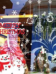 Merry Christmas Show Window Decoration Gifts PVC Glass Static Sticker