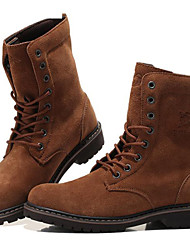 Men's Shoes Outdoor / Office & Career / Work & Duty / Athletic / Casual Suede Boots Brown / Gray