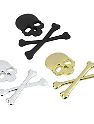 New 3D 3M Skull Metal Skeleton Crossbones Car Motorcycle Sticker Label Skull Emblem Badge Car Styling Stickers Decal