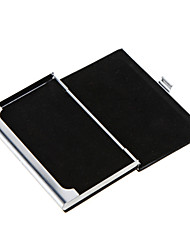 High Quality Stainless Steel Business Name Card Case Holder PU Leather