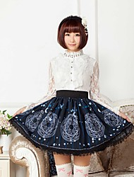 Blue Sun And Moon Magic Logo Lolita  Skirt Lovely Cosplay