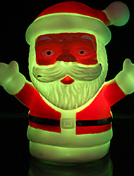 7*4CM Christmas Santa Claus Colorful Light-Emitting Toys Small Night Light Flash Creative Gifts Lights LED Lamp