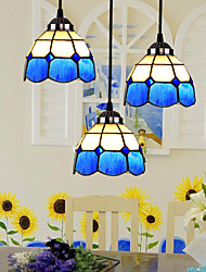 E27 220V 17*17CM 3-5㎡ European Contracted Droplight Glass Lampshade Lamps And Lanterns Of The Mediterranean