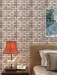 Home Decor Tile Bricks Wallpaper Contemporary Wall Covering  PVC Wall Paper  10*0.45 M