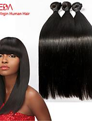 3pcs inferiores pelo grueso / porción brasileña del pelo virginal recta tejidos blandos tejer pelo virginal-8 pulgadas 30inch