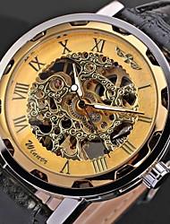 Men's Watch Mechanical Hollow Engraving Cool Watch Unique Watch Skeleton Watch