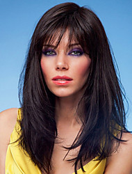 Hand Tied Top Classic Human Virgin Remy Hair Capless Long Straight Hair Wigs For Female