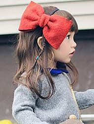 Girl's Big Bowknot Wool Headband
