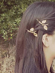 Women Metal Delicate Leaves Hairpin Clip Hair Accessories