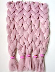24inch rainha de cabelo trança snythetic de rosa