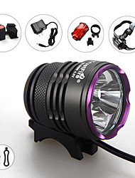 Lights Headlamps / Bike Lights LED 3600 Lumens 3 Mode Cree XM-L2 18650Waterproof / Rechargeable / Impact Resistant / Strike Bezel /