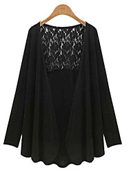Qina Woman'S Open Fashion Big Yards Lace Sleeve Cardigan Jacket Plus Size
