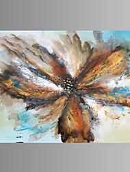 Fantasia / Botânico / Extravagante / Moderno / Pop Art Impressão em tela Um Painel Pronto para pendurar , Horizontal