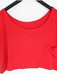 Ronde hals - Polyester - Zak - Vrouwen - T-shirt - Korte mouw