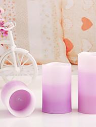 velas dotty ™ natal tri-camadas levou vela flamless, 18keys controle remoto, 12 cores mudando opção, pacote de 3