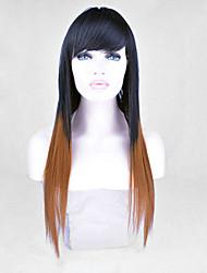 nuevo mujeres con estilo de la señora dos tonos venta peluca color a Eurepean peluca de pelo syntheic