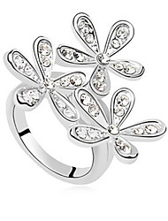 Lureme® Fashion Snowflake Rhinestone Ring