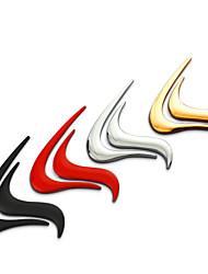 Fire Flame Chrome Metal Zinc Alloy Car Styling Emblem Badge 3D Sticker Cool Decor Decal