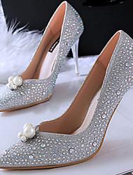Women's Shoes Fleece Low Heel Heels Sandals / Heels Casual Black / Brown / White / Silver / Gold