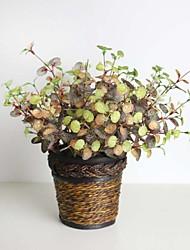 "12.99""H Five Branches Silkprint Artificial Plant Autumn Chaenomeles Speciosa 1 Bunch"