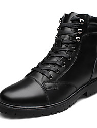 Men's Shoes Outdoor Leather Boots Black